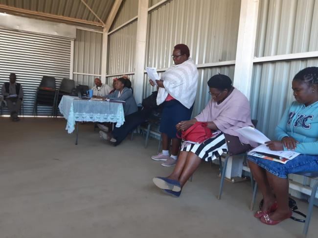 Nyandeni community member expressing her challenges