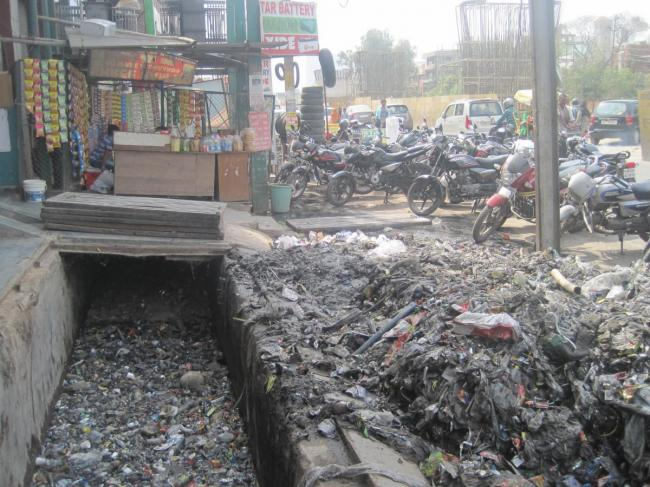 India, clogged drains