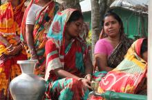 Women fetching water in Bangladesh