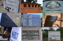 Zomaar een selectie van de gulle gevers van water en sanitaire geschenken