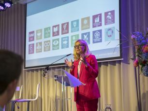 Minister for Foreign Trade and Development Cooperation Sigrid Kaag at presentation of Foreign Policy note - 28 May 2018