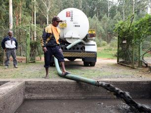 Septage disposal. Sri Lanka/Nuwara Eliya sanitation project, 2008