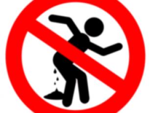 Forbidden to defecate here logo