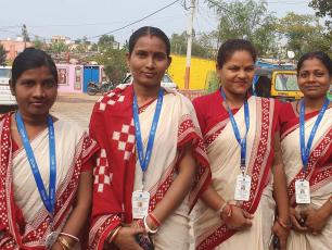 Jal Sathis, members of women-led Self Help Groups (photo courtesy Communication Strategy report)