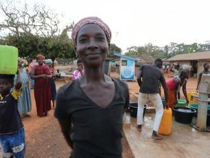 Water vendor in Agravi, Asutifi North, Ghana