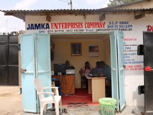 JAMKA Enterprise office in Dar es Salaam, Tanzania