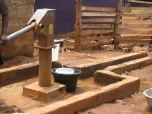 Handpump in West Sunyani, Ghana
