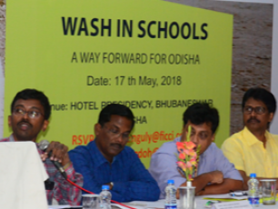 """WASH in schools: a way forward for Odisha"", expert panel discussion, Bhubaneswar, India, 17 May 2018"