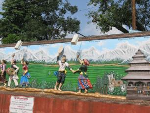 Mural in India