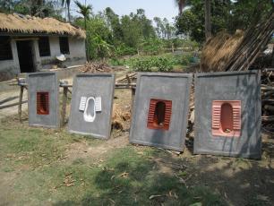 Concrete toilet slabs in India