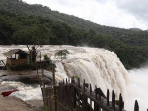 Kerala river during monsoon