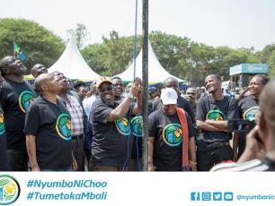 Raising the flag for the #NyumbaNiChoo campaign