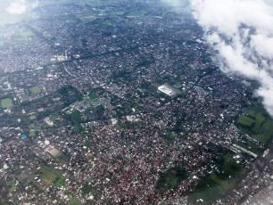 City of Matarm on Lombok from the air