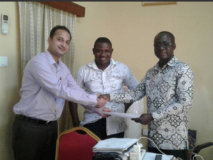 Mayank Midha (GARV Toilets) gets go-ahead from Director of Waste Management for Urban Slum Projects in Accra