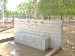 Handwashing station in Niger