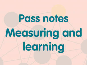 Pass notes measuring and learning