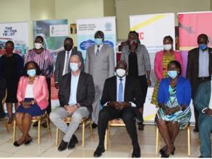 WASH CSO representatives at the NDP3 dialogue in Kampala, April 2021