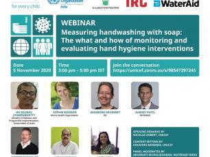 Webinar poster on measuring hand hygiene.