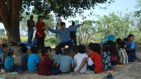 Training and reaching children in Nepal